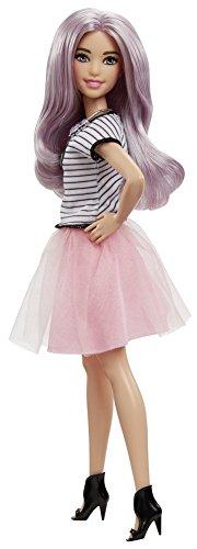 Barbie Mattel DVX76 - Fashionistas Puppe im pinken Tüllrock, Ankleidepuppen