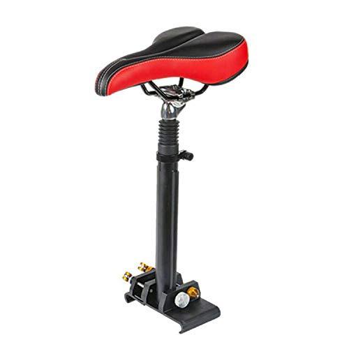 Futchoy - Sillín de bicicleta con varilla ajustable 40-60 cm - Sillín de Scooter eléctrico universal - Sillín plegable de tabla con ruedas