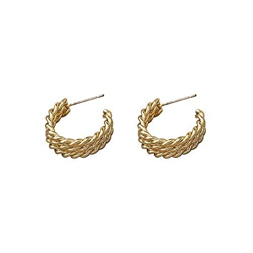 1 pieza de aretes de aro para mujer en forma de C para accesorios de oreja