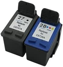 Prestige Cartridge HP 27 / HP 28 Pack de 2 cartuchos de tinta para HP Officejet/Deskjet/Fax Serie, color y negro