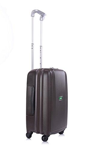 Lojel Streamline Upright Spinner Luggage, Coffee, 21.75 Inch