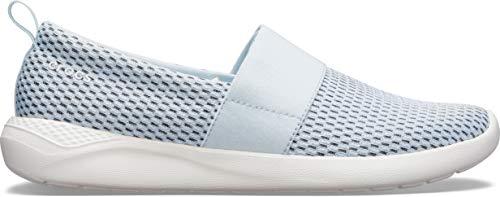 Crocs LiteRide Mesh Slip On - Zapatillas para mujer, color azul y blanco