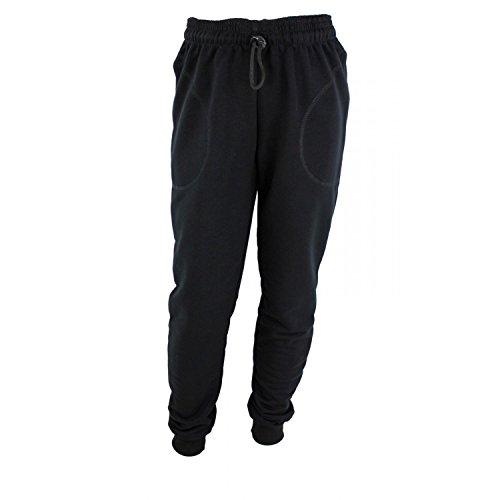 TupTam Jungen Jogginghose mit Bündchen Unifarben, Farbe: Schwarz, Größe: 128