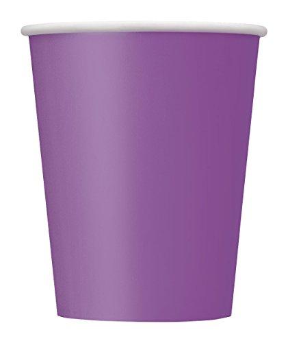 Unique Party vasos de papel, color morado, 8 unidad (paquete de 1) (34480)