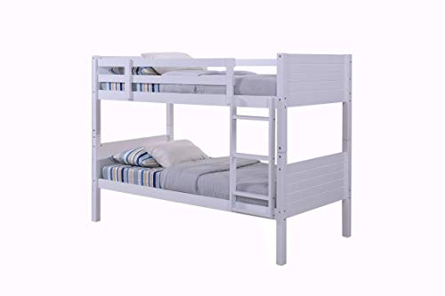 Heartlands Furnitures Milano Single 3'0 Ft Pine Bunk Bed (2 Single oxford Mattresses)
