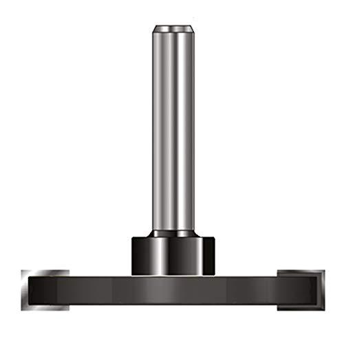 ENT 13962 Scheibennutfräser HW (HM), Schaft (C) 8 mm, Durchmesser (A) 40 mm, B 4 mm, GL 50 mm, auf Aufnahmedorn montiert