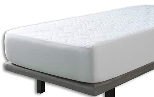Velfont Cotton Quilted Mattress Protector, Single Bed (90x190/200cm)