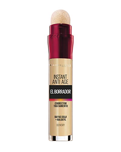 Maybelline New York Borrador Corrector de Ojos, Instant Anti Age, 16R 501, 00 Ivory - 6,8 ml
