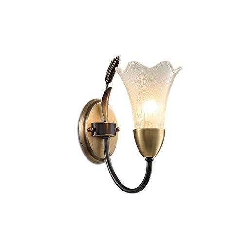 Lámpara de pared Lámpara de pared de cobre simple para estudio Pasillo de pasillo Aisle Sala de estar Dormitorio Decoración del hogar Pared Colgante de la cama Luz de pared Apliques de Pared