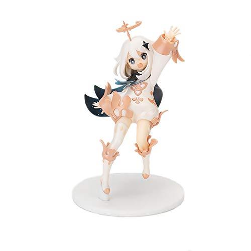 Genshin Impact Figure Games Paimon - Figura decorativa (1/7 escala 1/7), diseño de figura de juguete pintado acabado, hecho de PVC, 14 cm