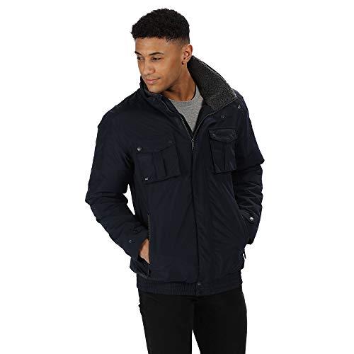 Regatta Veste Imperméable et Respirante Ralston avec col épais en Polaire Waterproof Insulated Jacket Homme Navy FR: S (Taille Fabricant: S)