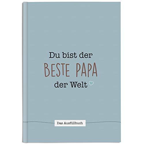 CUPCAKES & KISSES® Papa Buch zum Ausfüllen I Vatertagsgeschenk I Geschenkidee für deinen Papa I Vater Tochter Geschenk zum Geburtstag und Vatertag