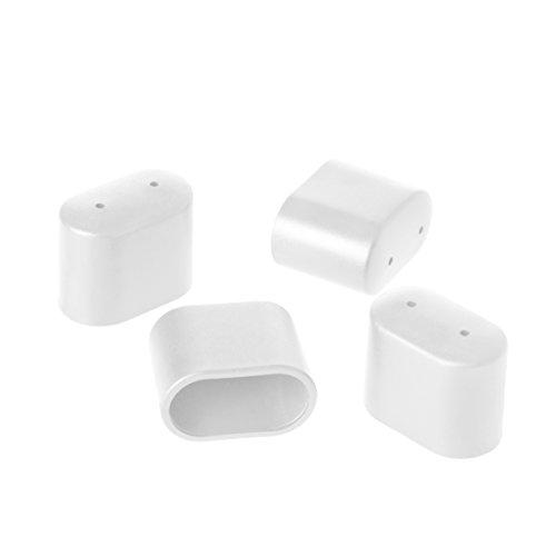 Greemotion Fußkappen set , Kunststoff 4-tlg, Weiß , 4,4 x 3,4 x 1,8 cm
