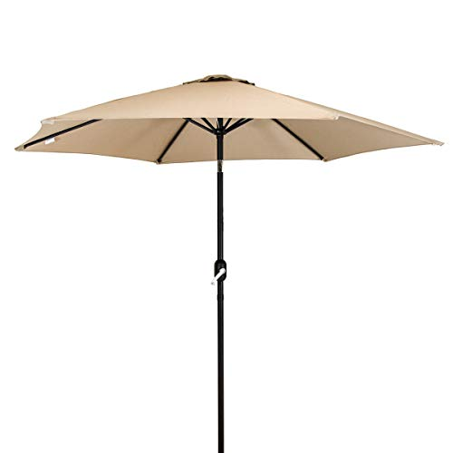 Bentley Garden Metal Patio Garden Umbrella Parasol With Crank & Tilt -...