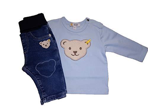 Steiff Ensemble de chemises 1/1 bras, bleu clair et jean, taille 56