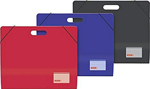 Brunnen 1047063 - Cartella portadocumenti formato A3, in cartone, con elastico, con maniglia, colori assortiti