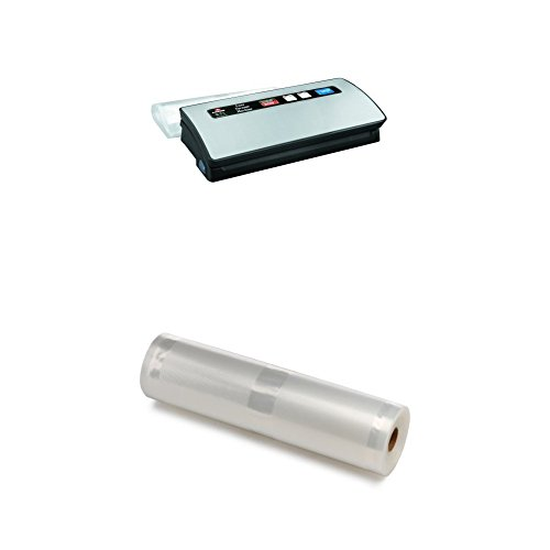 Lacor Luxe 69151 - Maquina vacío, 120 W, gris + Lacor 69058 - Bobinas tubo vacío, 105 micras, 28 x 10 cm