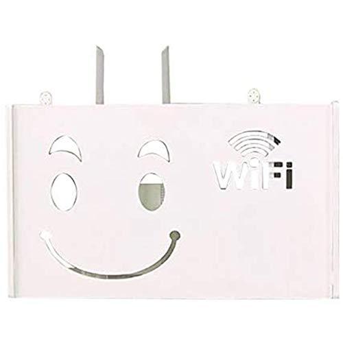 Cestbon Draadloos WiFi router opbergdoos hout kunststof plank muur plank houder kabel opslag huis decoratie