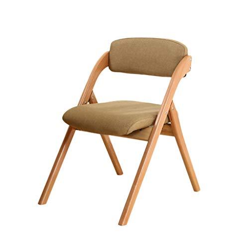 TD26 Chaise pliante en bois de hêtre restaurant à dossier amovible et lavable Chaise moderne simple ordinateur de loisirs à la maison