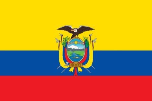 Durabol Flagge Ecuador Flag 150 x 90 cm Satin Doppelte Nähte