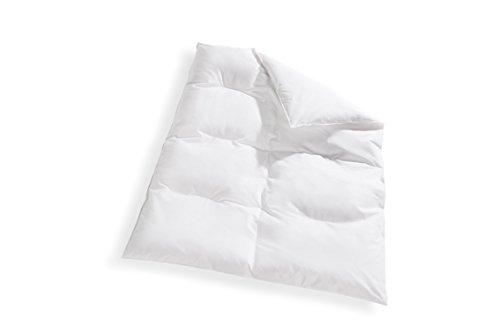 Koru Kids Bettdecken-Set Kinder, Daunendecke, 100 x 135 cm mit Kopfkissen 40 x 60 cm, 100% deutsche Daunen, waschbar bis 60°, Daunenbettdecke