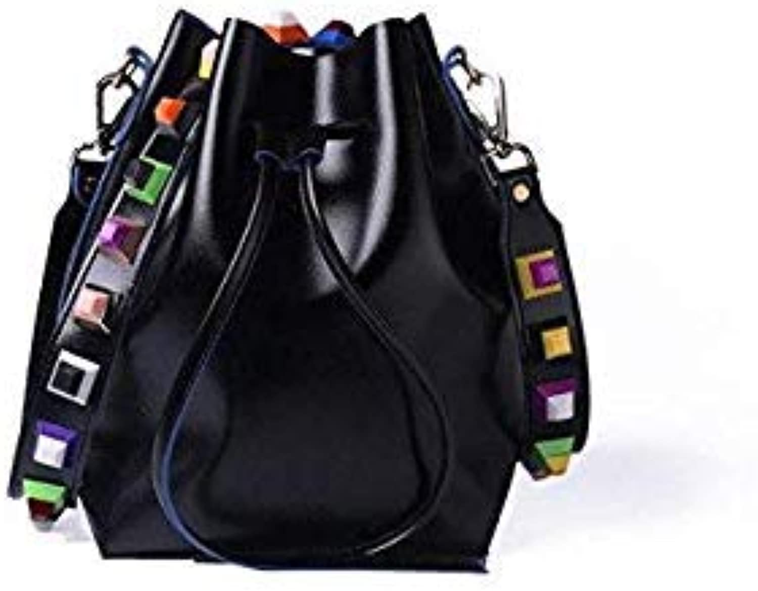 c26061ca57575 Fashion Leather Shouder Bags for Women Rivet Shoulder Strap Handbags ...
