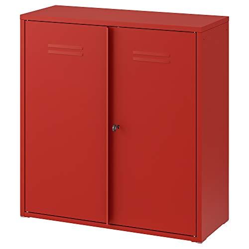 Armario IVAR con puertas 80x30x83 cm rojo