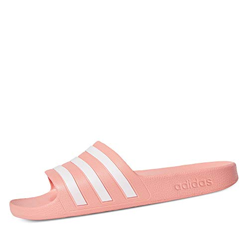 adidas Adilette Aqua, Ciabatte Donna, Rosa (Dust Pink/Ftwr White/Dust Pink), 38 EU