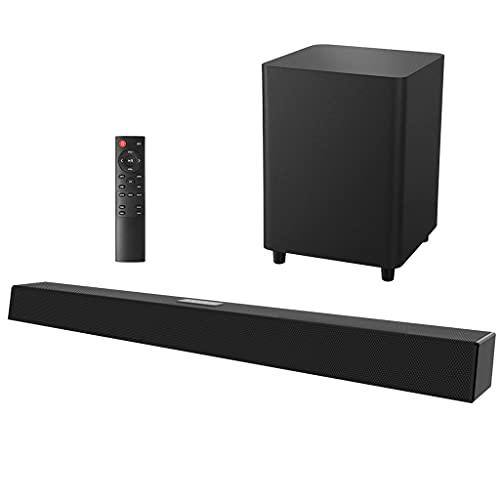RYSF 120W 2.1 TV Sistema de Sonido de Cine en casa Altavoz Bluetooth Barra de Sonido Subwoofer Compatible con Altavoces coaxiales ópticos para TV