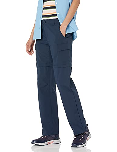Amazon Essentials Pantalones de Senderismo Convertibles con Cremallera para Exteriores, Azul Marino, 40-42
