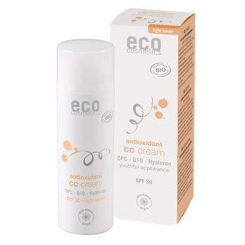 eco cosmetics Bio CC Creme LSF 30 hell mit OPC, Q10 und Hyaluron (2 x 50 ml)
