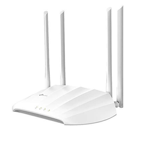 TP-Link TL-WA1201 AC1200 Dual-Band Access Point, Range Extender, Multi-SSID e Client, PoE Passivo, Captive Portal, Tecnologia MU-MIMO