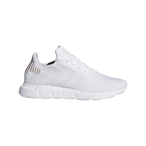 adidas Originals Women's Swift Run Sneaker, White/Crystal White/White, 9 M US