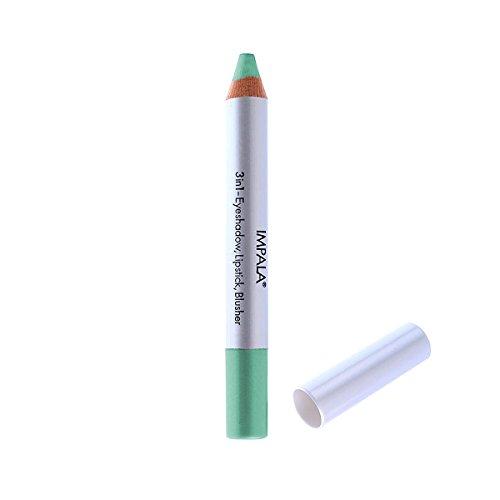 Impala Bleistift 3 in 1 Farbe 14 Türkis Grün - Lidschatten, Lippenstift und Blusher
