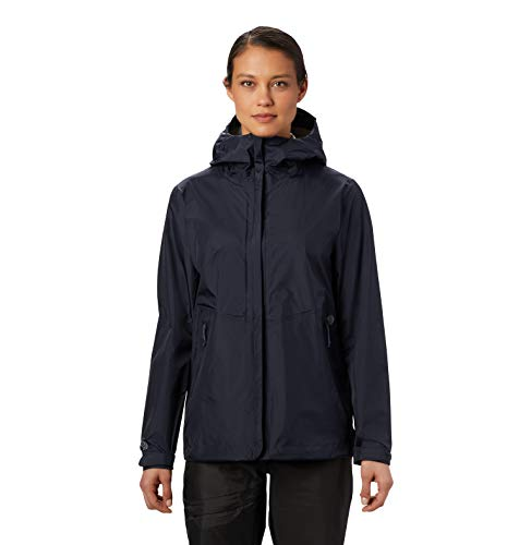 Mountain Hardwear Acadia Jacket Women's Lightweight Waterproof Rain Jacket for Hiking, Camping, Climbing, and Everyday - Dark Zinc - Medium