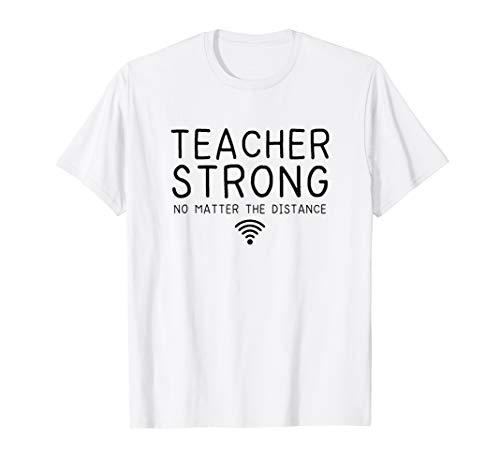 Teacher Shirts, Teacher Strong Social Distance T-Shirt