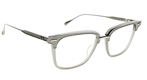 Dita Oak DRX-2085-A-GRY-SLV-52 Eyeglasses Antique silver/matte grey w/Clear Demo Lens