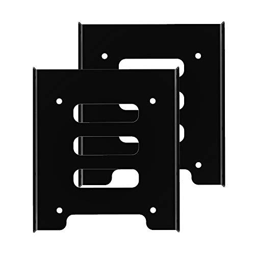 GLOTRENDS PC用 2.5 3.5インチ 変換 マウンタ 金属製 SSD 交換ブラケット(2枚セット 25Rack)