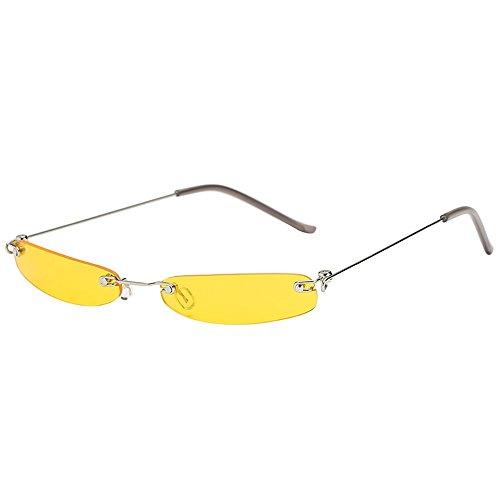 FRAUIT Occhiali da Sole Vintage Occhiali da Sole Ovali Piccoli Mini per Donna Ragazza Occhiali Da Vista Ultra Leggero