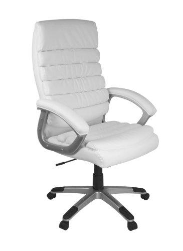 Amstyle Bürostuhl Valencia Bezug Kunstleder Schreibtischstuhl Design X-XL 120 kg Chefsessel...