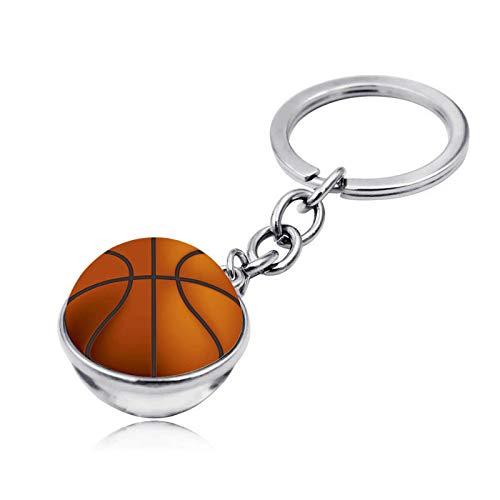 Bosi General Merchandise Baloncesto, Llavero de Gemas del Tiempo, Bola de Cristal de Doble Cara, Colgante de Llavero, Regalos creativos