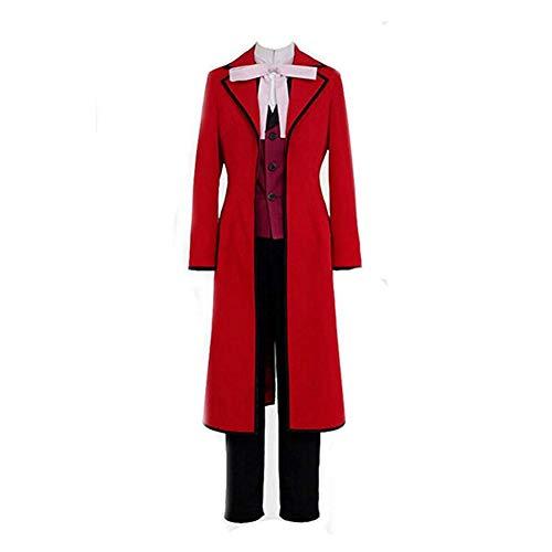 Helymore Disfraz de Cosplay de Anime Grell Sutcliff Cosplay Costume Uniforme, Male L