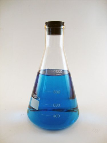LabStock 1000ml Erlenmeyer Flask, with Rubber Stopper