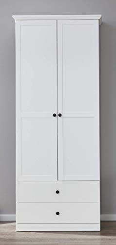 Newfurn Garderobekast multifunctionele kast landhuis garderobe schoenenkast gangkast kast kast II 81x196x 41 cm (BxHxD) II [Mikka.twentythree] in wit decor/wit decor gang