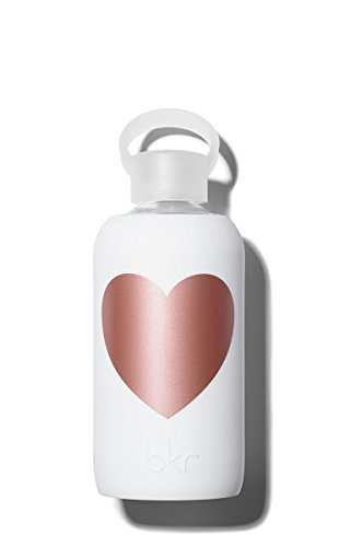BKR Wasserflasche Metallic Herz Wandbild Winter Rosa 500ml