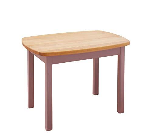 BioKinder 24784 Levin Kindertisch Spieltisch Tisch für Kinder aus Massivholz Erle und Kiefer 75 x 54 x 53 cm Flieder lasiert