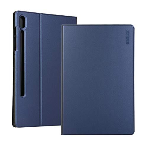 Wuqiang Caja del teléfono del Cuero del tirón de la Caja Horizontal con Soporte for Samsung Galaxy Tab 10.5 S6 T860 / T865 st (Color : Dark Blue)