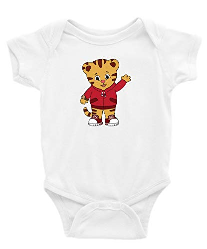 Daniel Tiger Short Sleeve Unisex Onesie (18-24) White