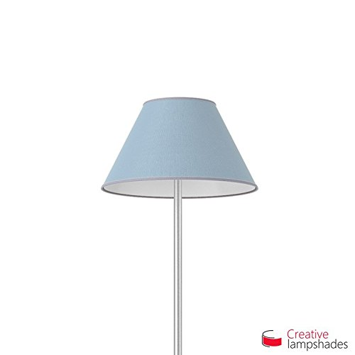 Chinese lampenkap met Hemelse Blauwe Jute bekleding E27 voor Base Diameter 50-22cm - H. 26.5cm