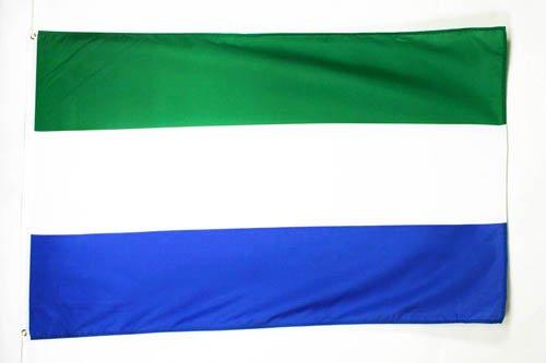 AZ FLAG Flagge Sierra Leone 90x60cm - Republik Sierra Leone Fahne 60 x 90 cm - flaggen Top Qualität